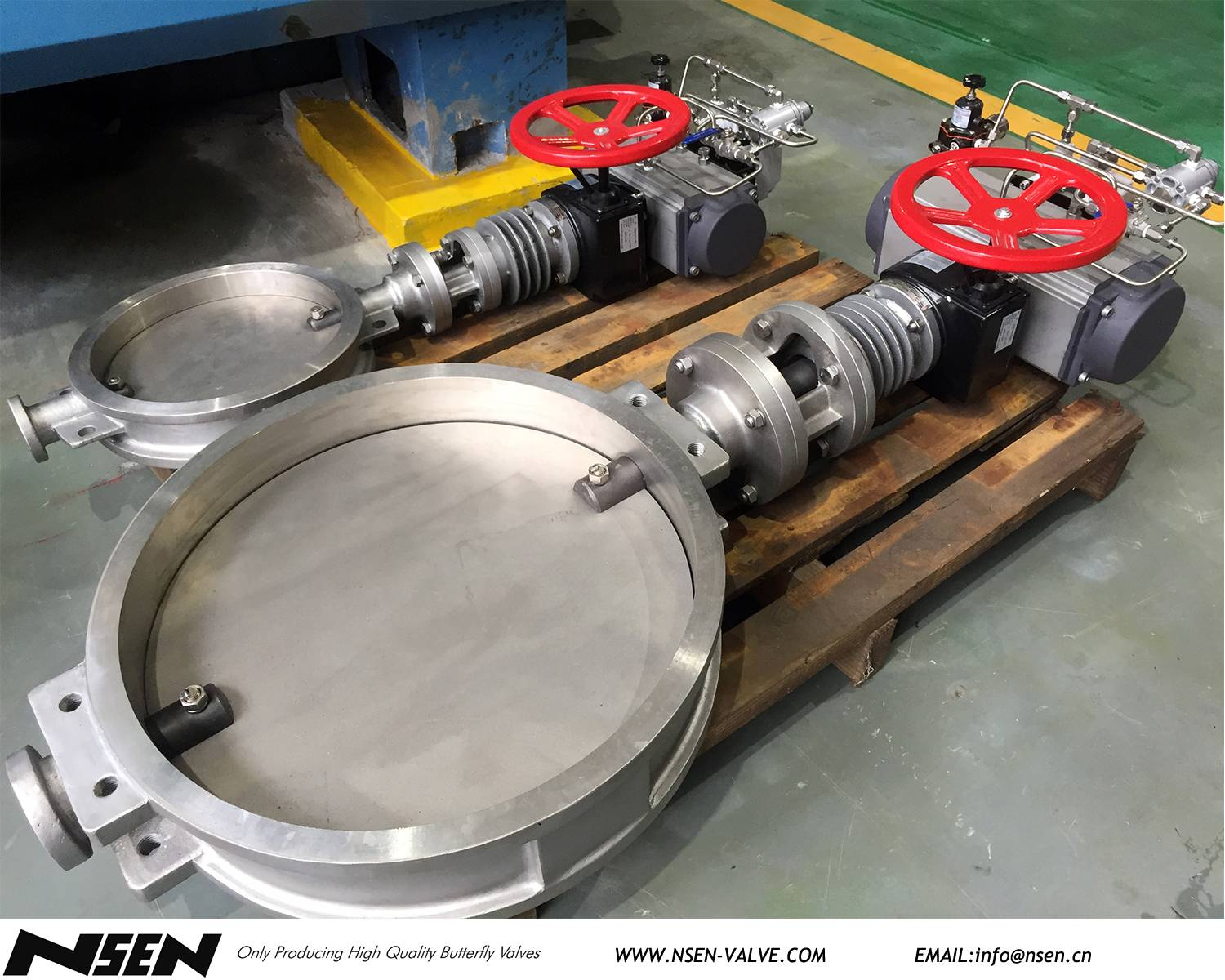 Pneumatic operated stainless steel damper with cooling fin