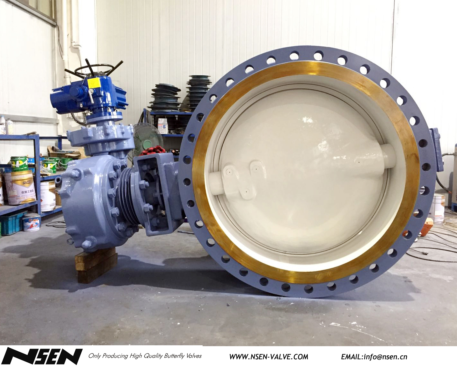 ON-OFF type electric metal seated butterfly valve