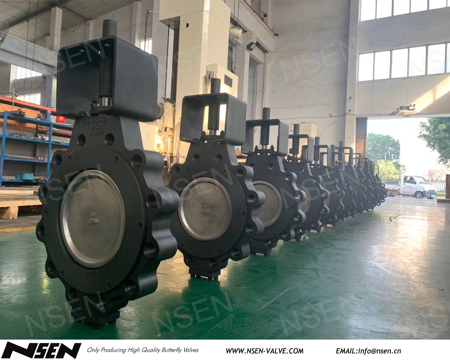 Carbon steel WCB Lug connection High performance butterfly valves