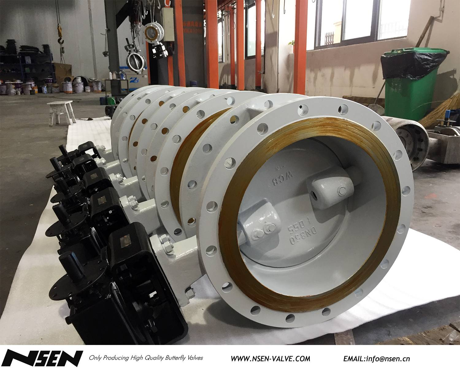 PN16 DN200 &DN350 Eccentric butterfly valve dispatch