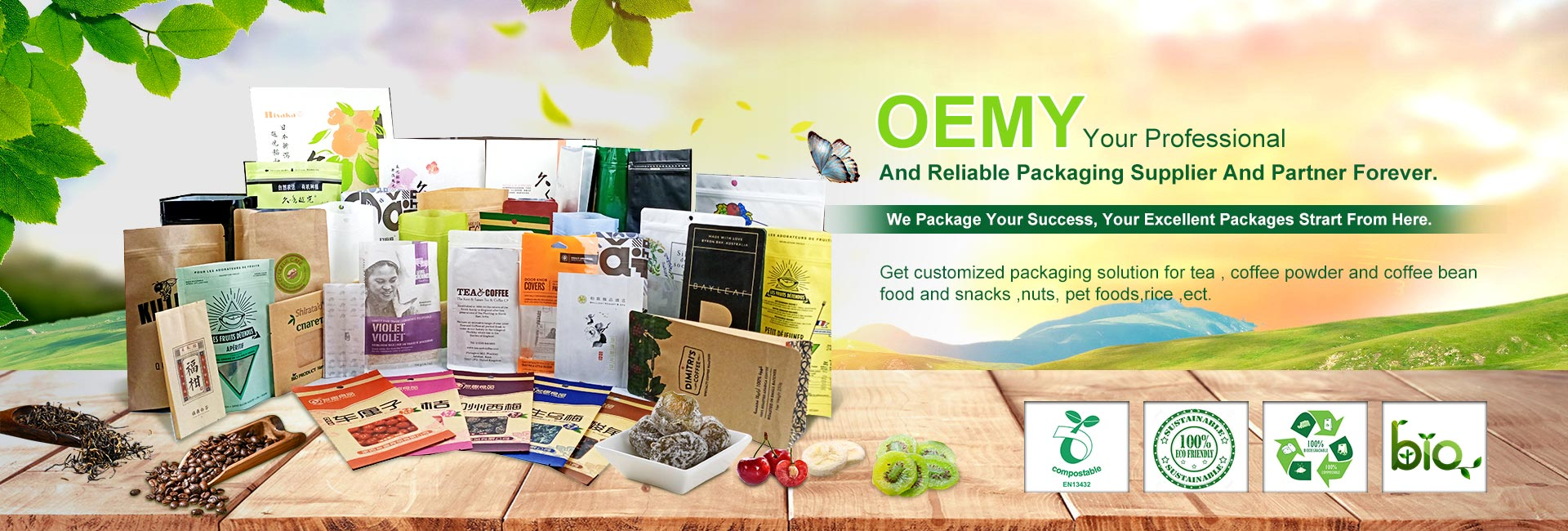 OEMY Your Professional  And Reliable Packaging Supplier And Partner Forever.