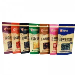 China manufacturer of colorful printing kraft paper packaging bags for dried food