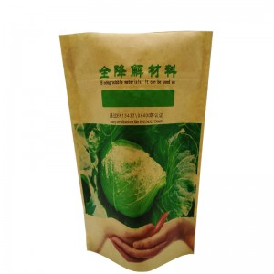Biodegradable PLA stand up dried fruit pouch