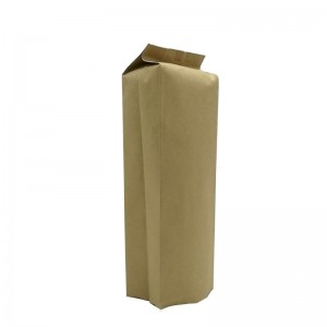 Biodegradable PLA and yellow kraft paper back sealed packaging bags