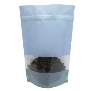 Personalized cotton paper stand up packaging bags for tea leaves
