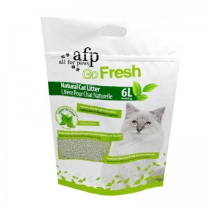 Colorful printing fully degradable PLA packaging bags for cat foods