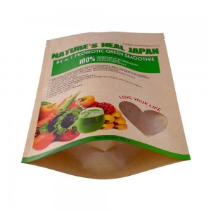 Recycle material packaging bags with easy zipper