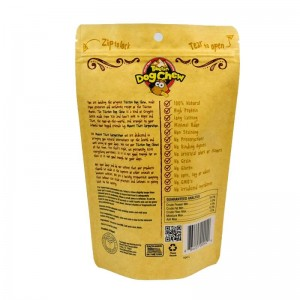 ECO friendly packaging kraft paper dog food bags with easy zipper