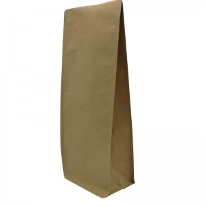 ECO friendly yellow kraft paper gusset bags for tea leaves