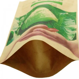 Fully biodegradable stand up kraft paper bags