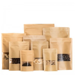 Different size kraft paper sandwich packaging bag