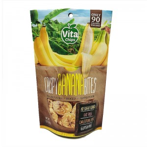 Colorful printed recycle dried fruit packaging bag with biodegradable valve