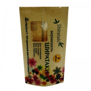 Fully biodegradable back sealed bags with transparent window