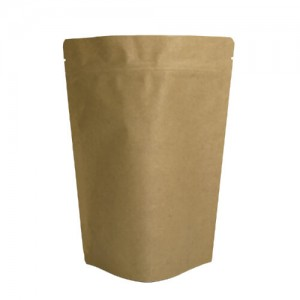 PLA kraft Paper Bag with PLA valve for tea and coffee