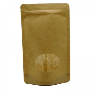 Biodegradable PLA and yellow kraft paper stand up packaging bags