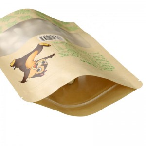 Fully biodegradable PLA nuts packaging bags with easy zipper