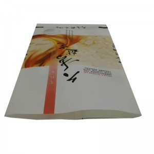 Back sealed rice packaging bags with round window