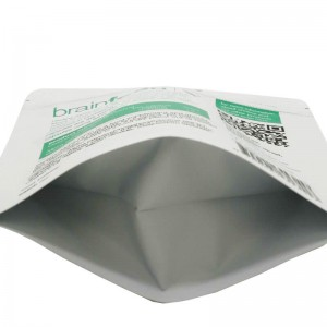 Custom stand up aluminum foil packaging bags for health food
