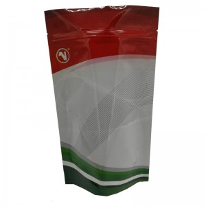 Color printed stand up aluminum foil packaging bags for coffee powder