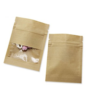 Personalized 3 side sealed Kraft paper packaging bags for chips