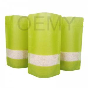 China OEM Biodegradable Food Packaging For Rice Bag Central Sealed Bag