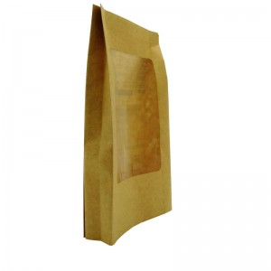 Biodegradable PLA packaging bags for health food with clean window