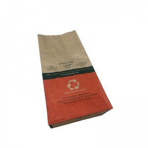Kraft paper gusset bottom potatoes chips packaging pouch