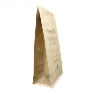 Biodegradable stand up coffee bean packaging bags with easy zipper