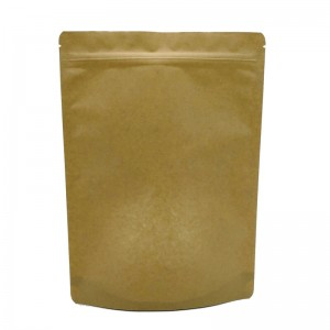 Brown craft paper French fries packaging bags without any printing
