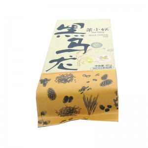 Back sealed gusset craft paper packaging bags for dried fruit