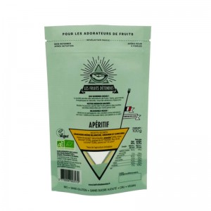PLA stand up nut package pouches with triangle window design