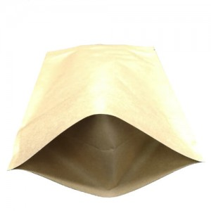 Biodegradable Kraft paper bag with clear window for tea and coffee powder
