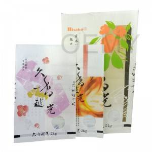 Creative printing biodegradable packaging bags for rice