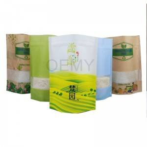 ECO friendly material stand up packaging kraft paper bags for tea leaves packing