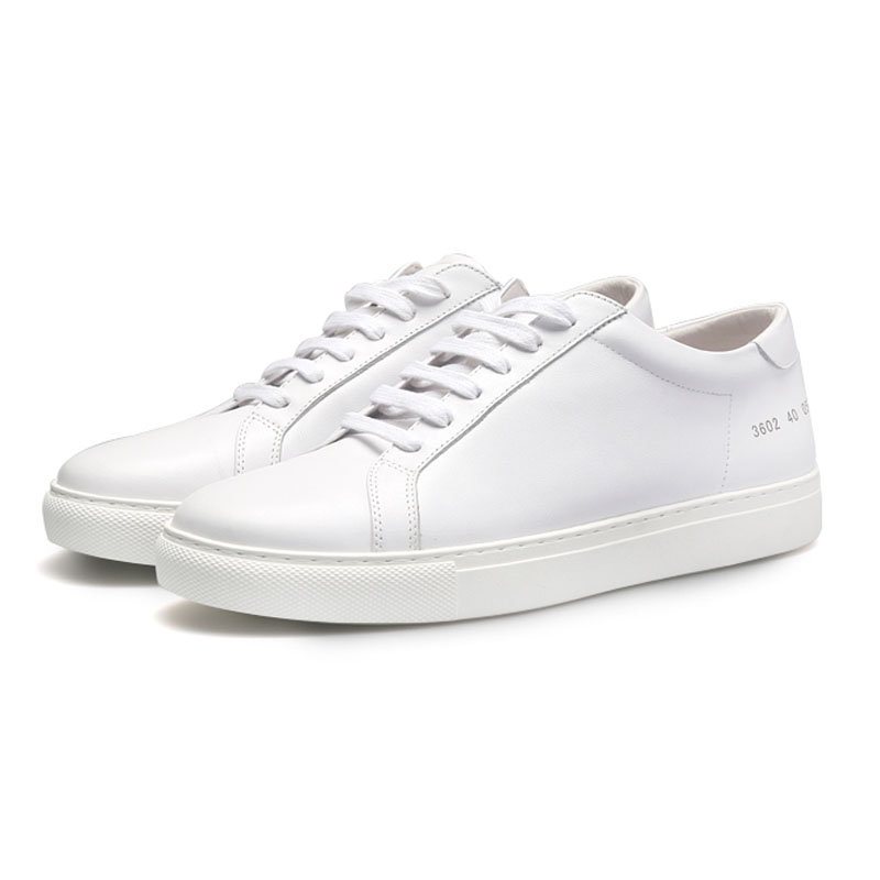 White Men Genuine leather Brand Design Casual Shoes Featured Image