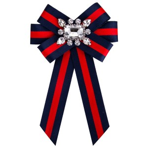 Beautiful Girls Boutonniere Women Fashion Red-Blue Multi-Layer Canvas Corsage Colorful Diamond-Studded Brooch Students Corsage