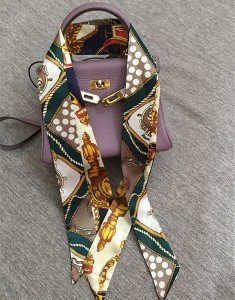 Fashion Mini Silk Satin Scarf For Bag Accessory Factory