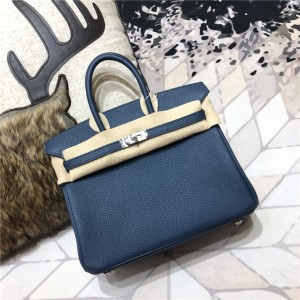 High Quality Royal Blue Togo Leather Ladies Bag...