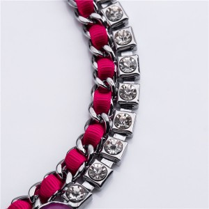 Most Popular Necklace Europe And The United States Famous Brand Collarbone Chain Necklace Women Rhinestone Necklace