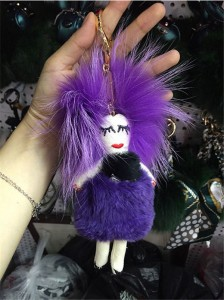 Fashion Fur Doll Bag Hanging Accessory Handbag Decorations