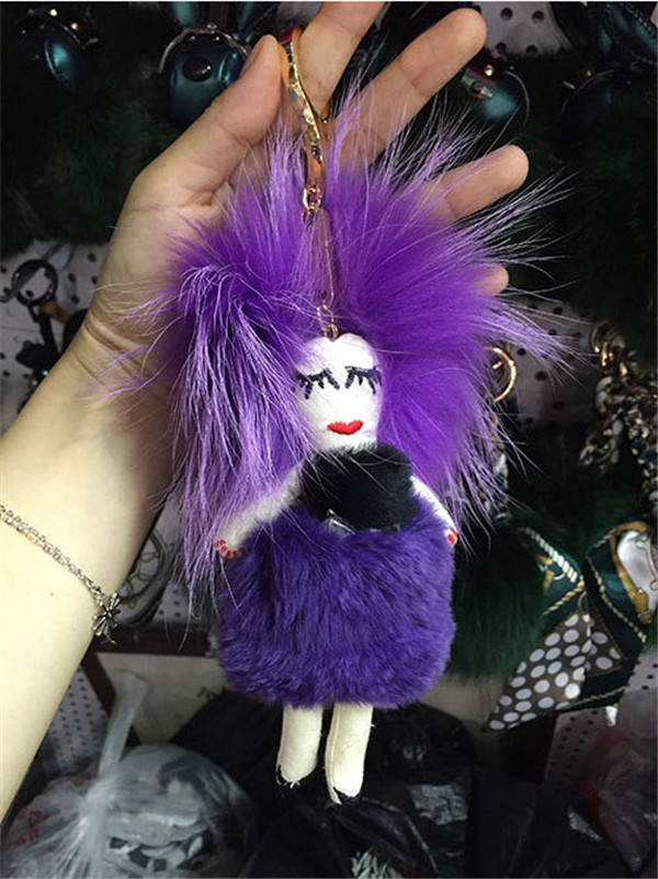 Fashion Fur Doll Bag Hanging Accessory Handbag Decorations Featured Image