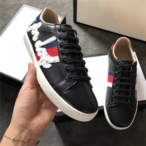 Letter Embroidery Lace Up Sneakers