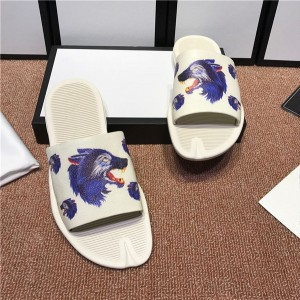 OEM Made Beach Slippers Whte Cowskin Animal Pri...