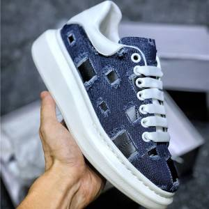 First Comfortable Thick Sole Denim Jeans Blue Sneakers Shoes For Couples