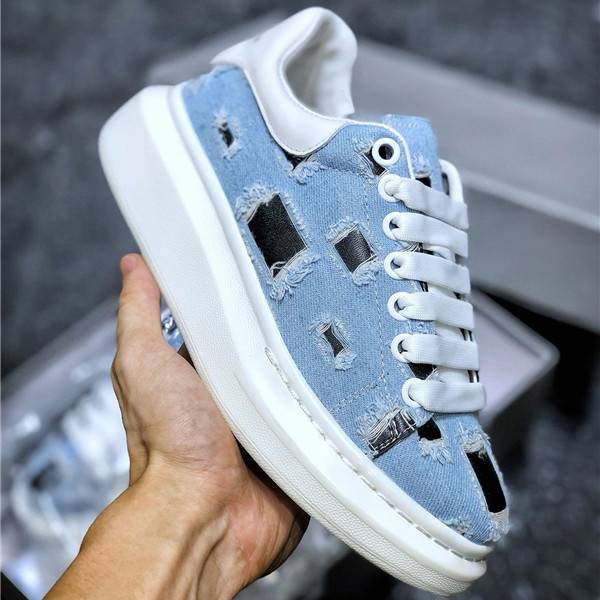 First Comfortable Thick Sole Denim Jeans Blue Sneakers Shoes For Couples Featured Image