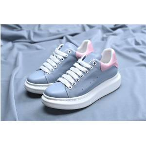 Women Pink cowhide Leather Shoes Sneakers With Pink Outsole