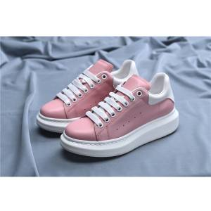 Pink Genuine Leather Shoes Women