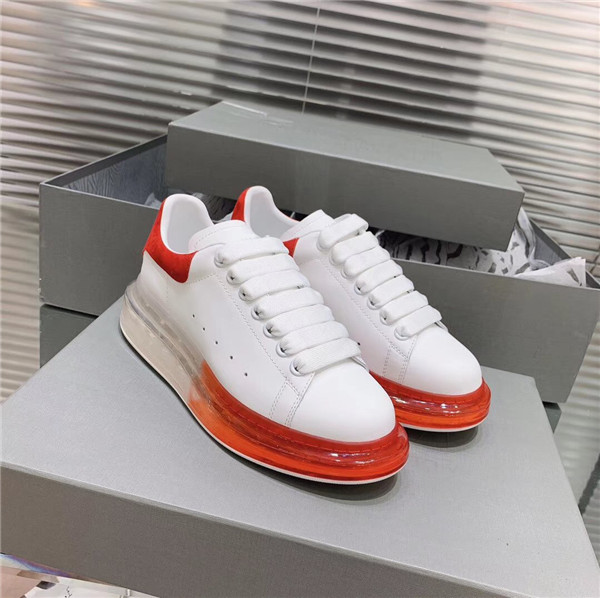 Most Comfortable four-season Sneakers for both women and men sneakers with red transparent bottom sole Featured Image