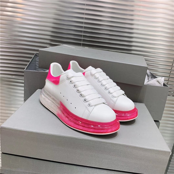 Most Popular Cow Skin Sneakers for Both Women And Men with Pink Transparent Sole  size 35 to 46 Featured Image