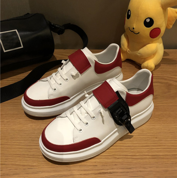 Custom Made Men Trainers In Red-White Color With Shoes Lace From OEM Shoes Factory Featured Image